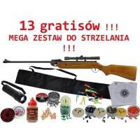 Wiatrówka Magnum 4,5 mm - zestaw 13 gratisów