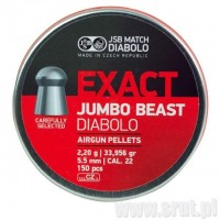 Śrut JSB Exact Jumbo BEAST 5,52 mm, 150 szt.
