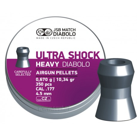 Śrut JSB Diabolo Heavy Ultra Shock 5,52 mm 150 szt.