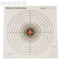 Grube tarcze strzeleckie 17x17 cm, czerwony środek
