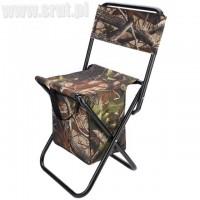 Krzesło składane z torbą leśny kamuflaż