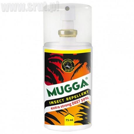 Mugga Spray Extra STRONG 50% DEET na komary i kleszcze 75 ml