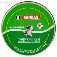 Śrut Diabolo Kandar Magnum kal. 6,35 mm 150 sztuk