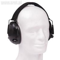 Ochronniki słuchu aktywne MIL-TEC czarne