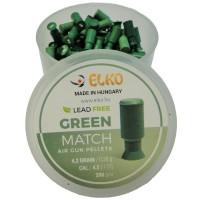 Śrut teflonowy GREEN POLY MATCH 4,5 mm 200 sztuk