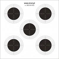Tarcze strzeleckie karabinkowe 5xKpn 14X14 100 szt.