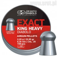 Śrut JSB Exact King Heavy 6,35 mm 150 sztuk