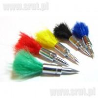 Lotki kolorowe do wiatrówki 25 sztuk, kal. 4,5