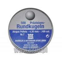 H&N Rund-Kugeln 4,30 mm miedziowana BB