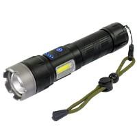 Latarka akumulatorowa LED P120 + COB