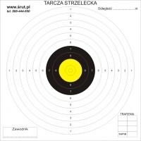 Tarcze strzeleckie 17x17 cm 100 szt. - żółte centrum