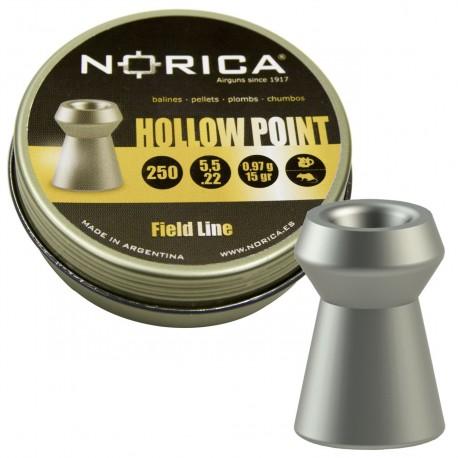 Śrut Norica Hollow Point 5,5 mm 250 szt.