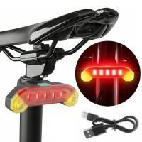 Tylna lampka rowerowa akumulatorowa USB