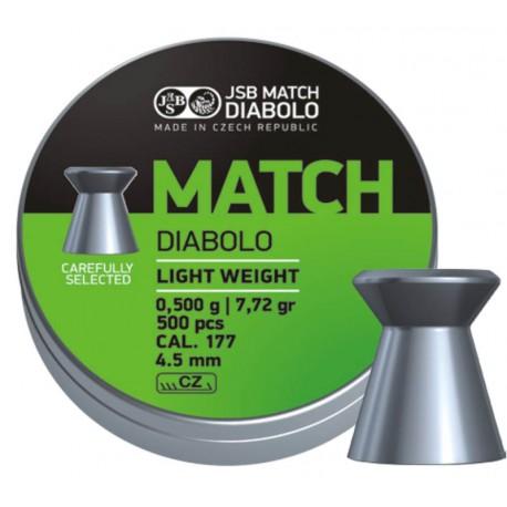 Śrut JSB Match Diabolo Light Weight 4,49 mm 0,500 g